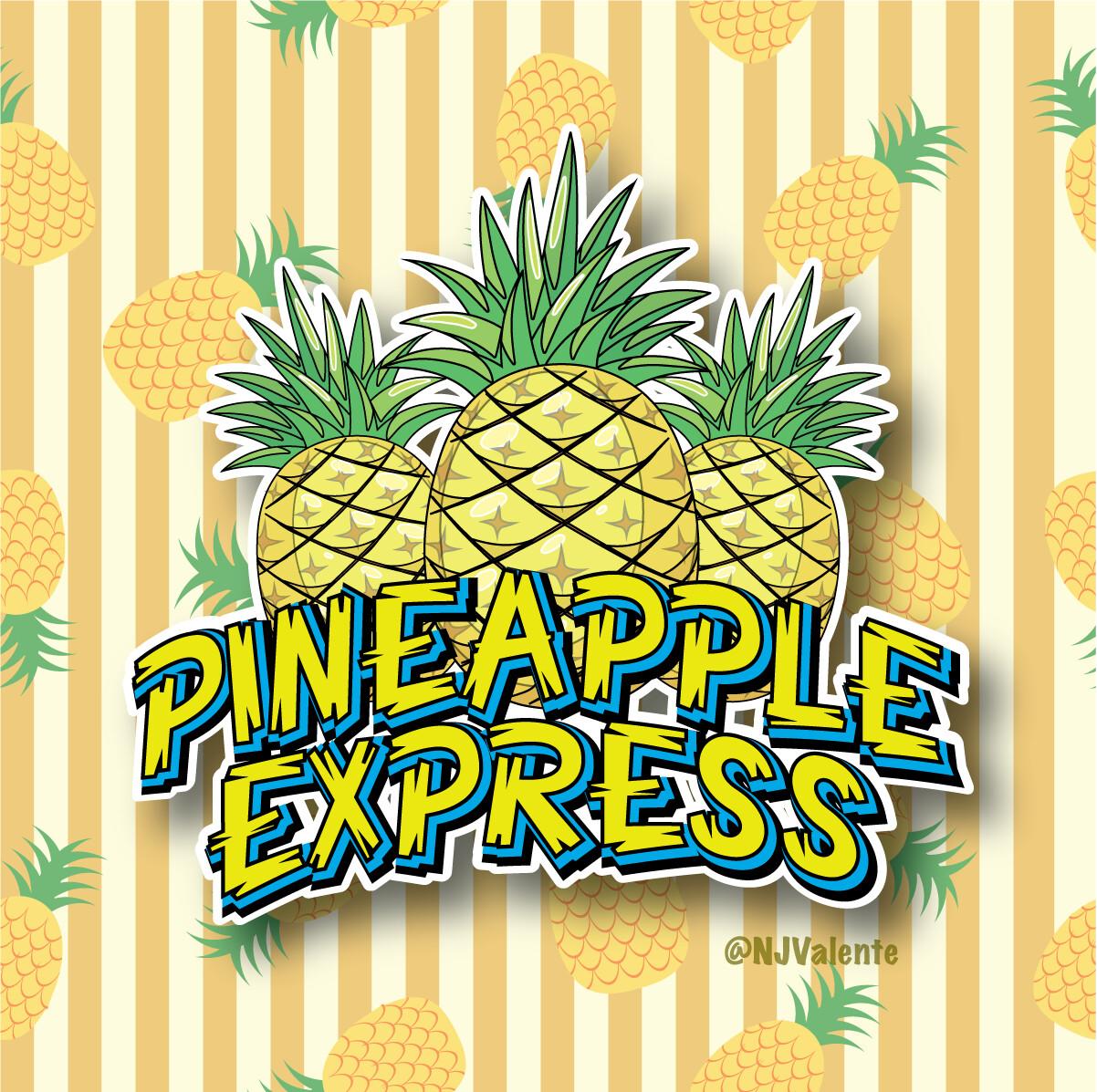 Pineapple Express Cannabis Logo Design, version 2.