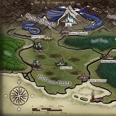 Magical kaleidoscope map avalon eld