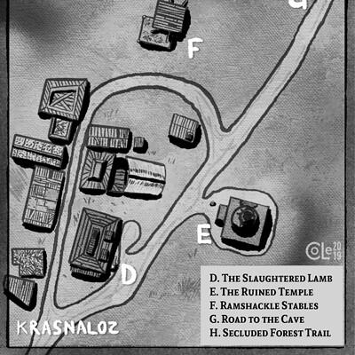 Colin le sueur village map a5