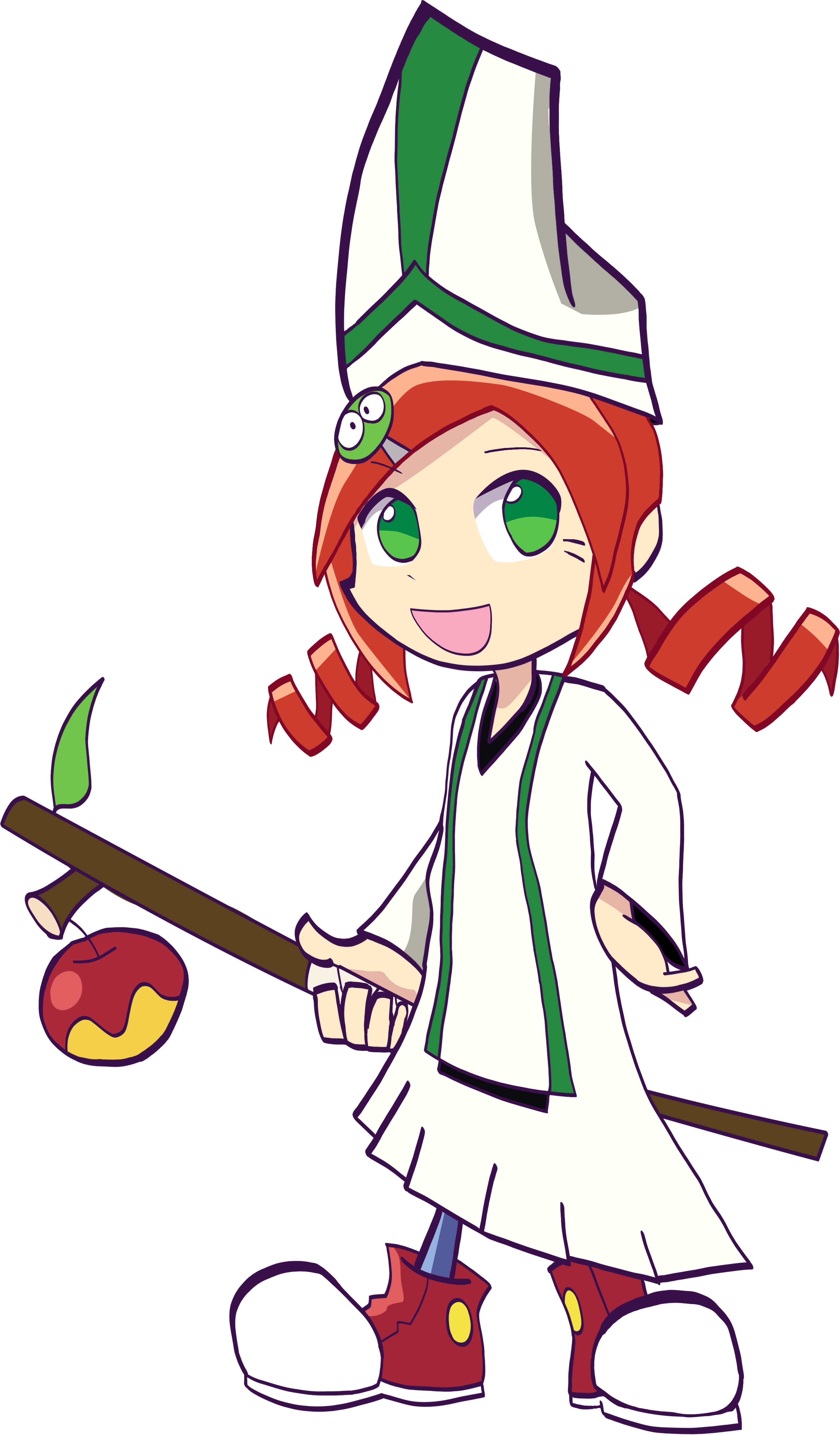 Ringo Ando from Puyo Puyo as the Cleric