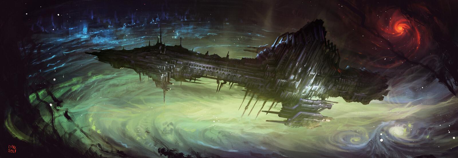 Darkguard Starship
