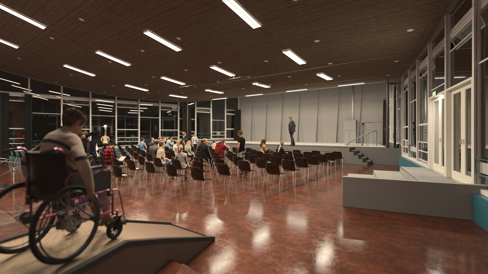 SketchUp 2021 + Thea Render V3 Broedplaats LELY (The Lely Incubator) Auditorium Amsterdam Showroom Final-Scene 6C 20m15s HD1080 1536sp