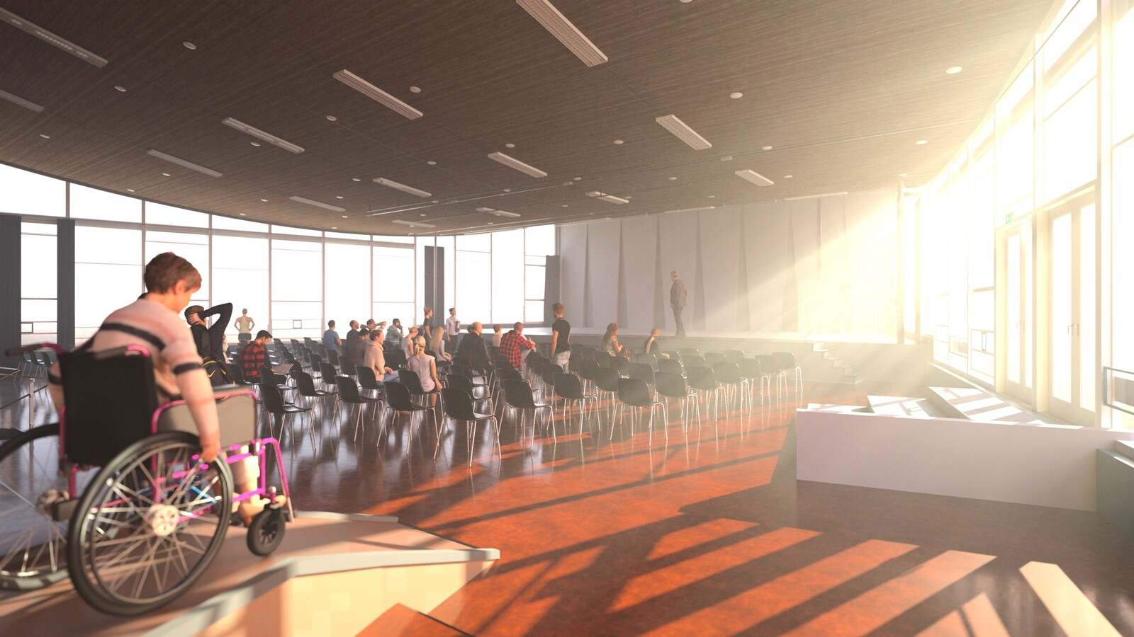 SketchUp 2021 + Thea Render V3 Broedplaats LELY (The Lely Incubator) Auditorium Amsterdam Showroom Final-Scene 6D 23m38s HD1080 1536sp