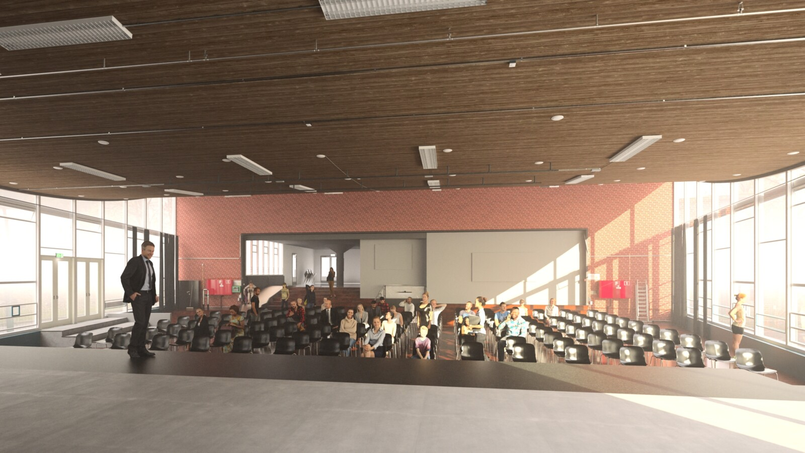 SketchUp 2021 + Thea Render V3 Broedplaats LELY (The Lely Incubator) Auditorium Amsterdam Showroom Final-Scene 7 21m15s HD1080 1536sp