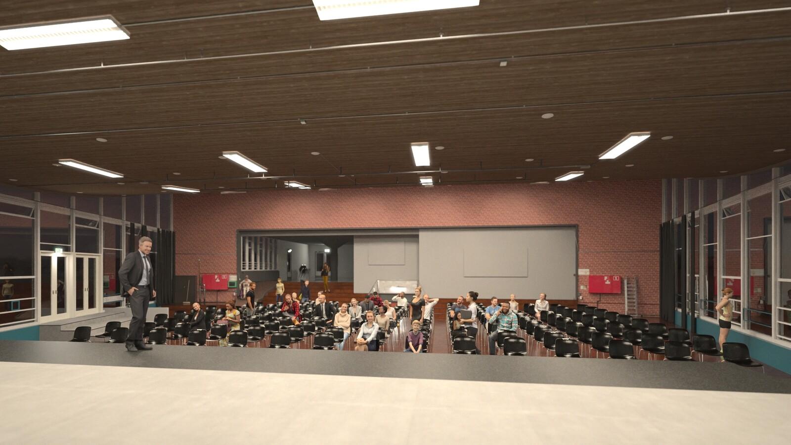 SketchUp 2021 + Thea Render V3 Broedplaats LELY (The Lely Incubator) Auditorium Amsterdam Showroom Final-Scene 7B HD1080 1536 sp 18m10s