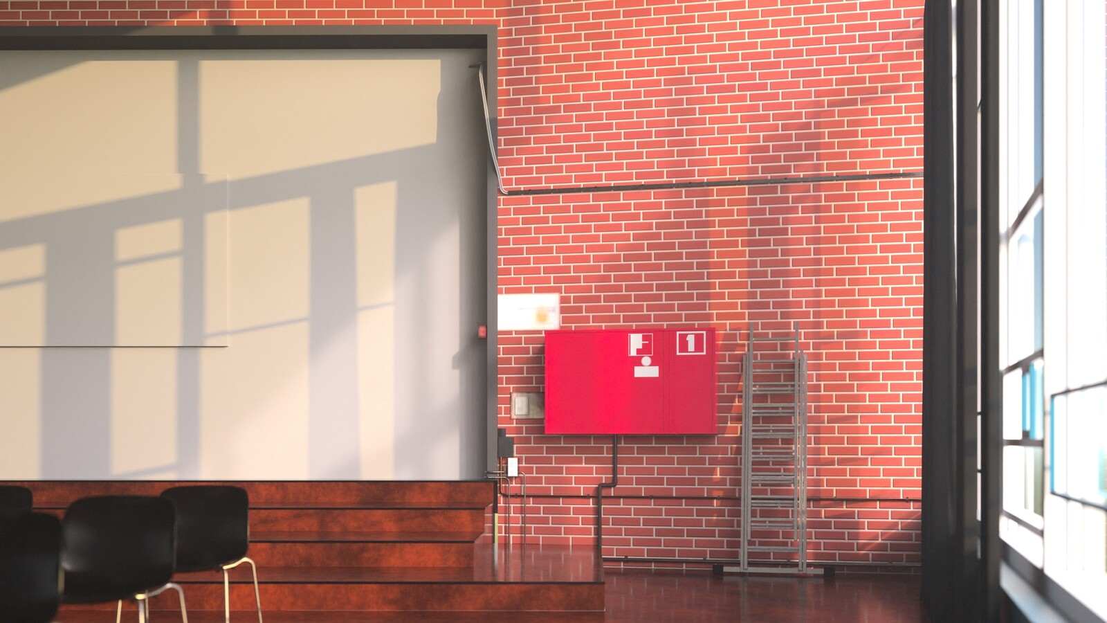 SketchUp 2021 + Thea Render V3 Broedplaats LELY (The Lely Incubator) Auditorium Amsterdam Showroom-Scene 12 17m10s HD1080 1024sp