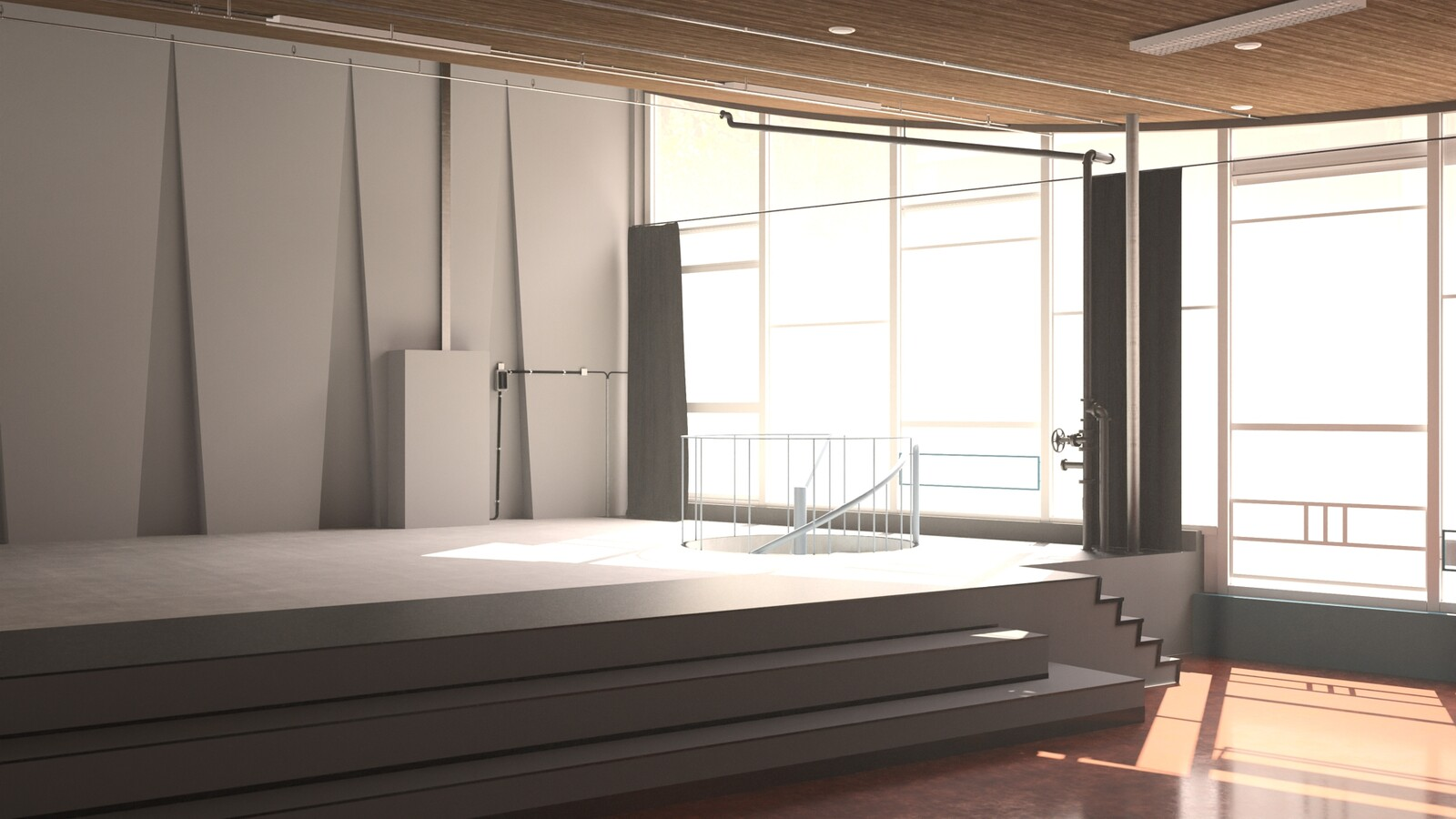 SketchUp 2021 + Thea Render V3 Broedplaats LELY (The Lely Incubator) Auditorium Amsterdam Showroom Final-Scene 31 18m12s HD1080 1536sp