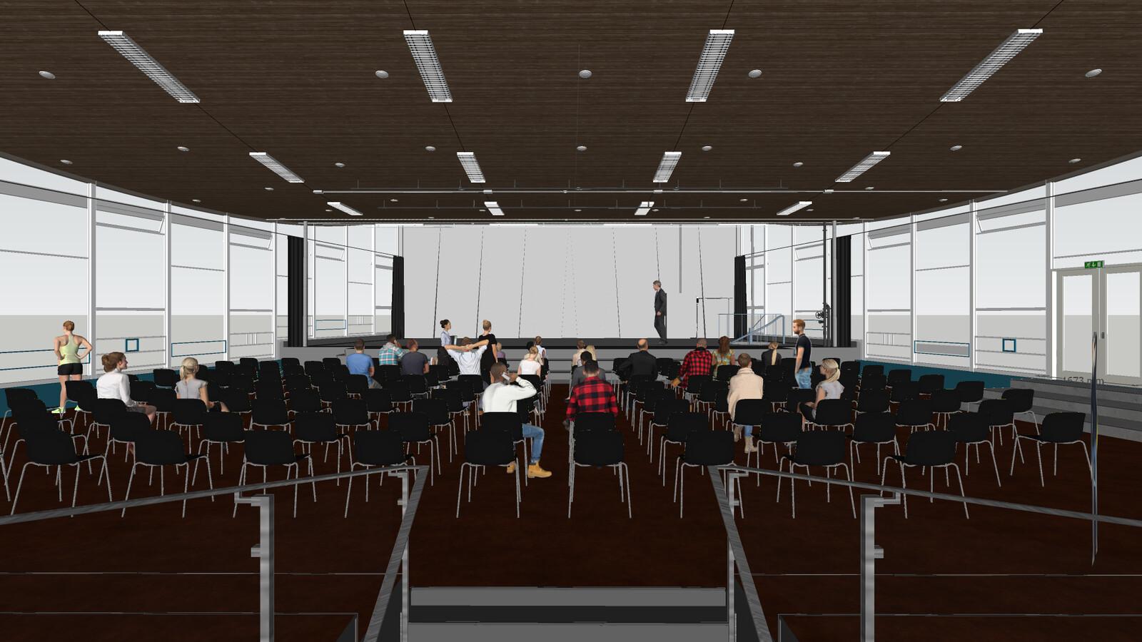 SketchUp 2021  Broedplaats LELY (The Lely Incubator) Auditorium Amsterdam Showroom-Scene 1C SU