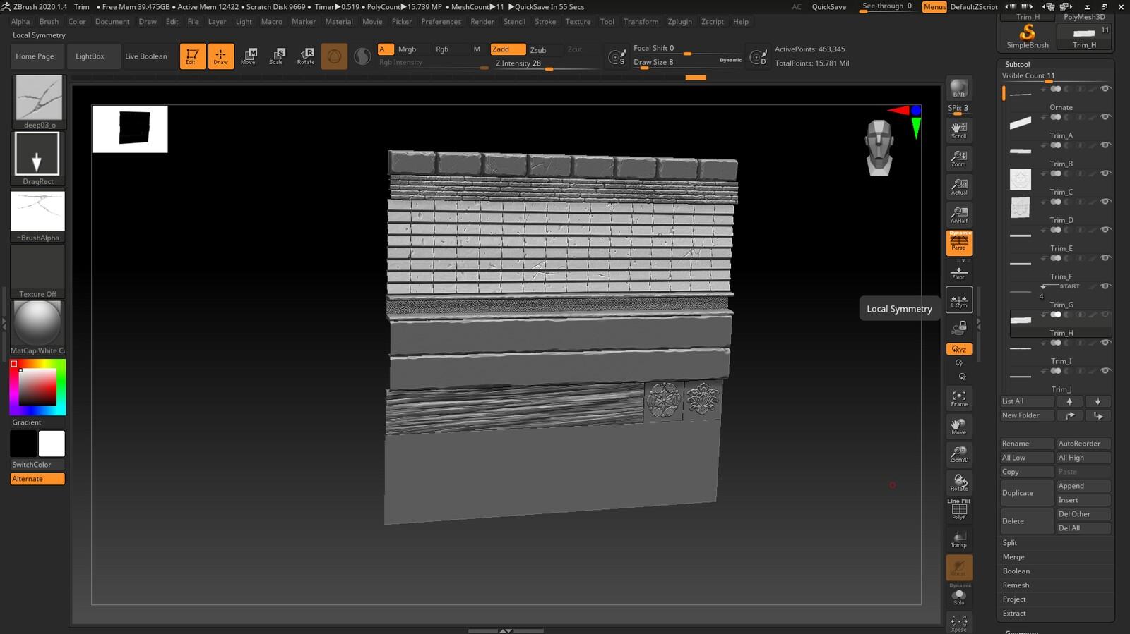 trim sheet creation