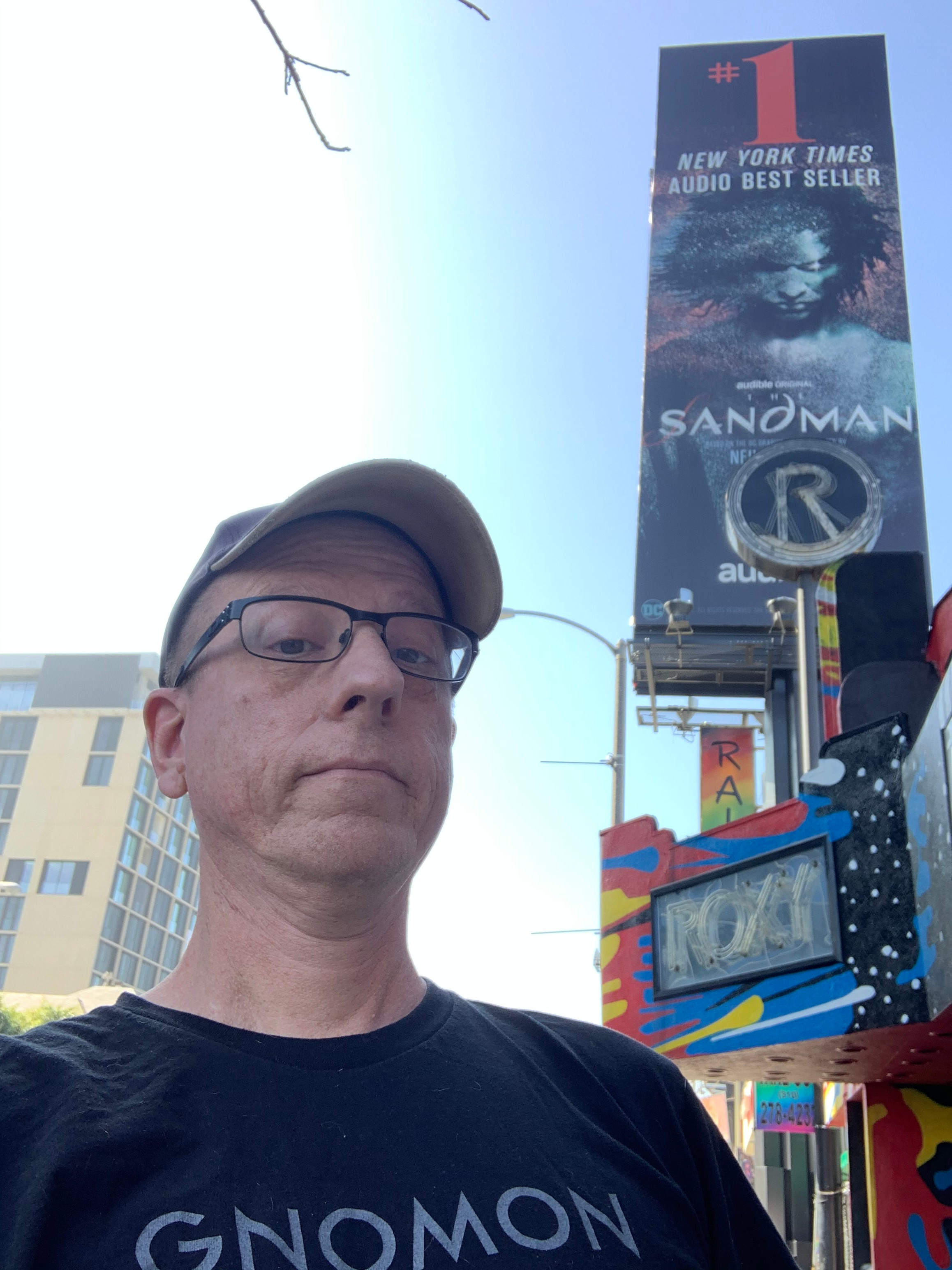 not bad! got to pose in front of my artwork on a billboard on the Sunset strip in Hollywood!