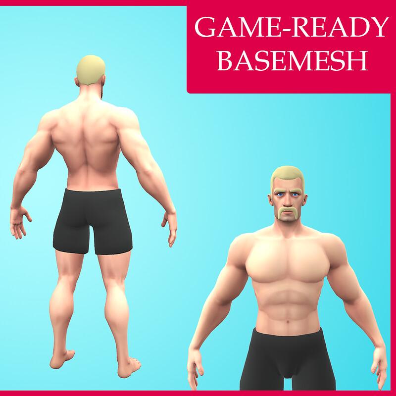 Cartoon Basemesh Male Character- Rigged - Rognek
