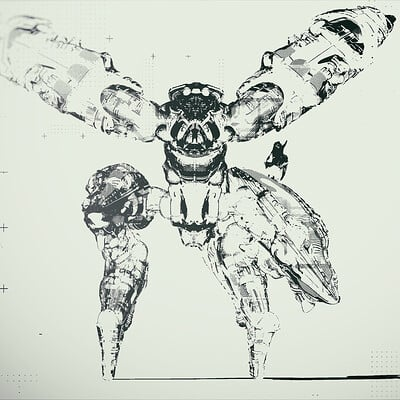 Ben nicholas bennicholas metalgear ray poster 01