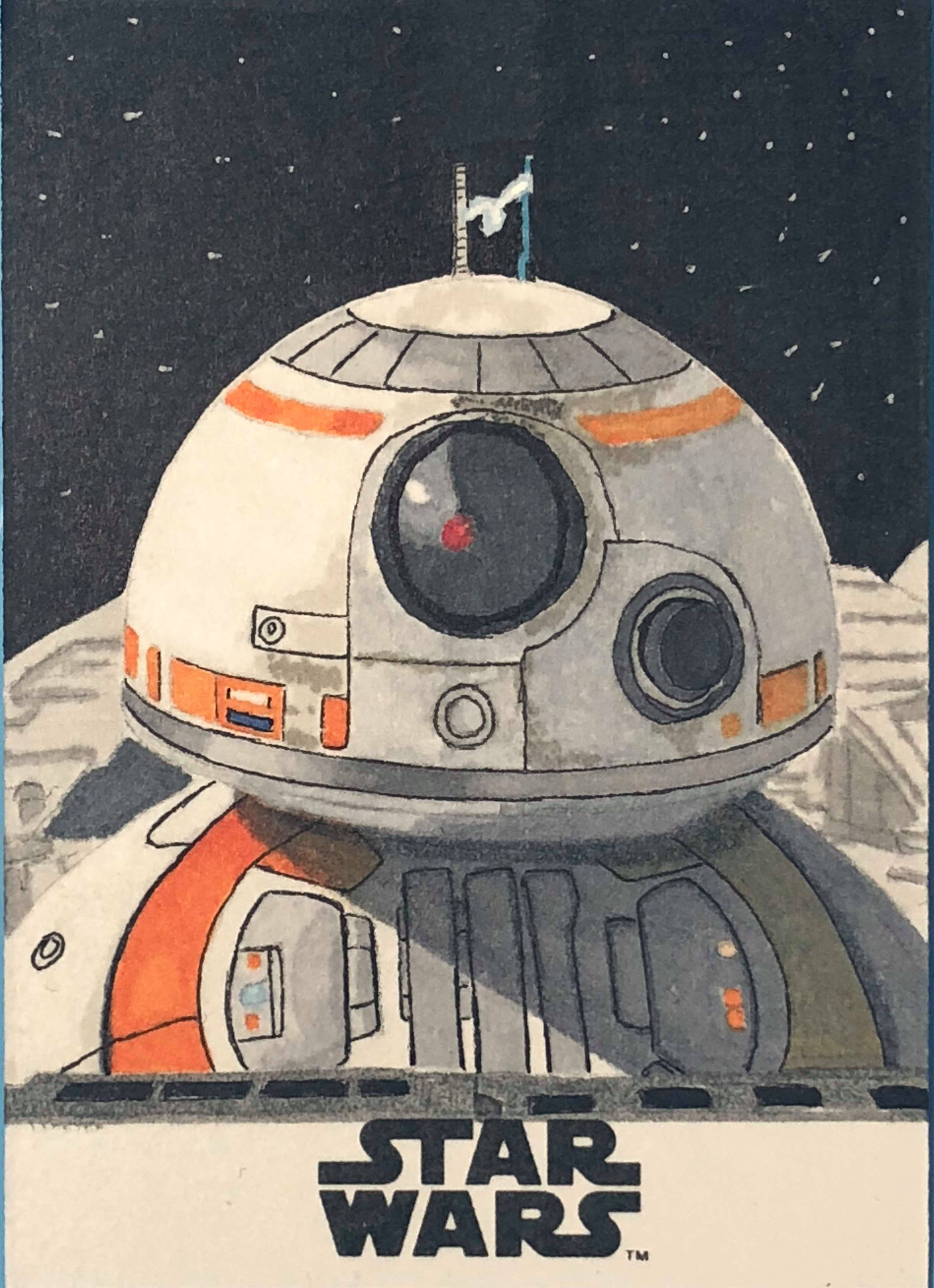 BB8 from Topps The Last Jedi set