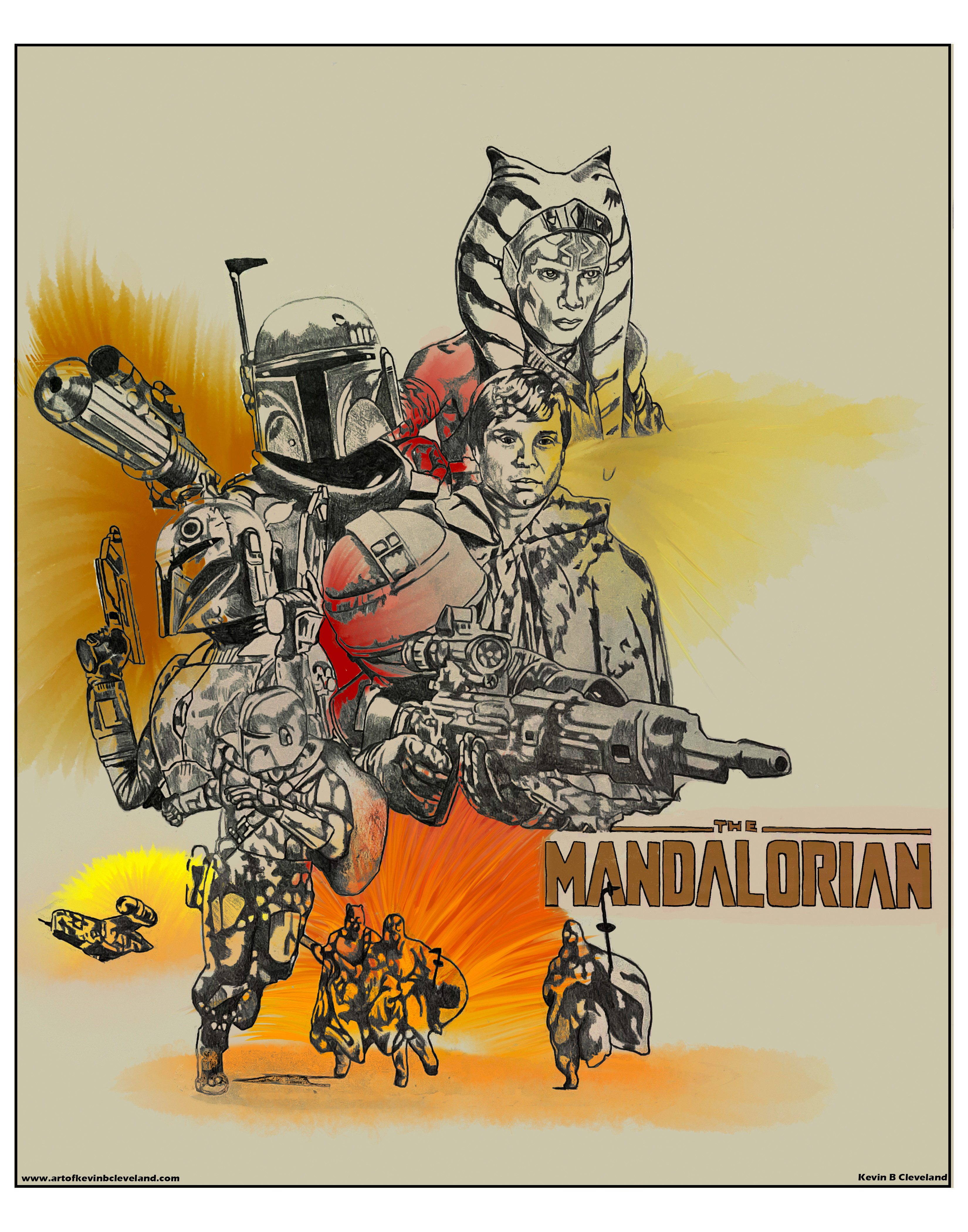 Mandalorian Season 2 poster mock up (playing with paint)