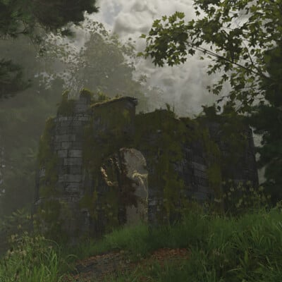 Paul bury ruined castle 01