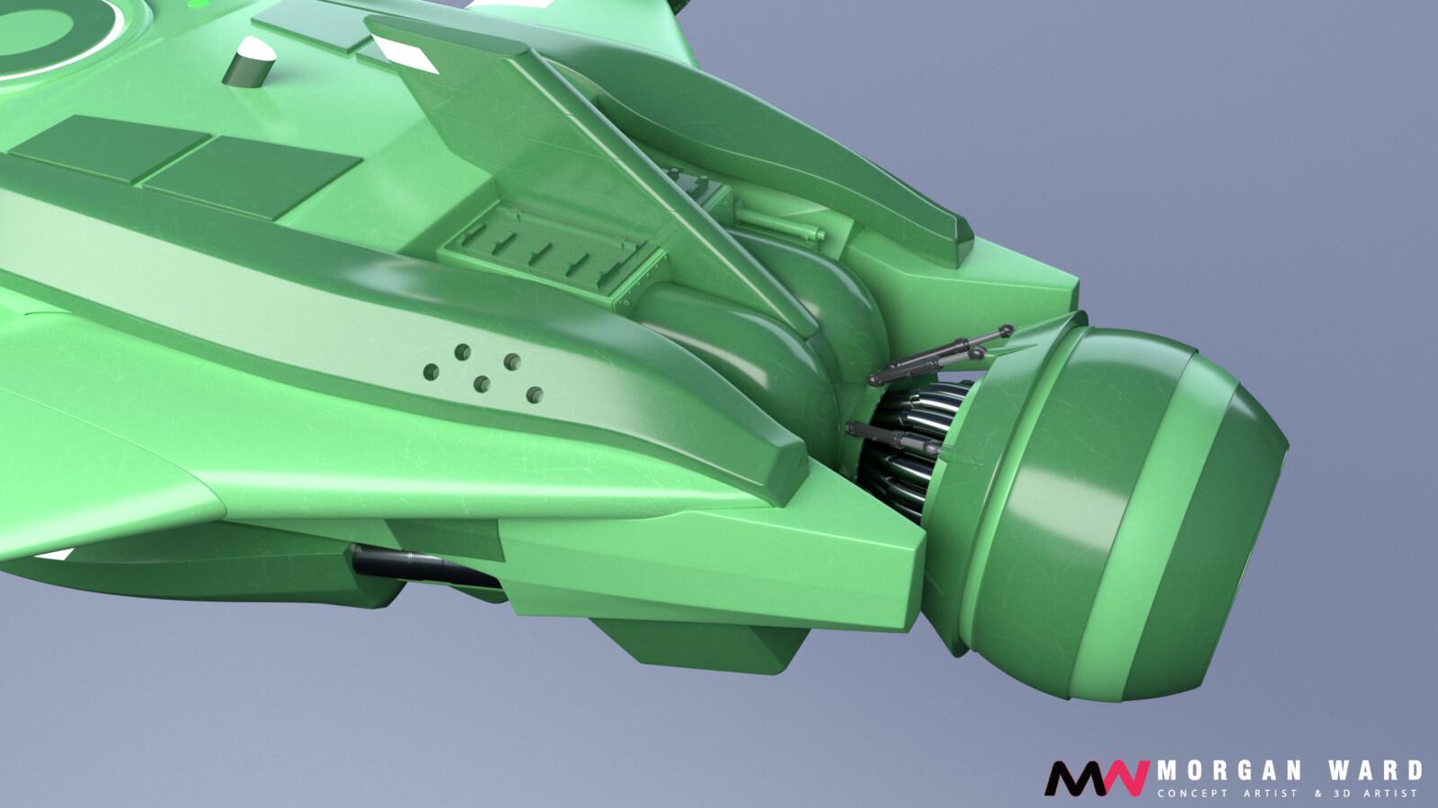 Original colors - rear thruster detail
