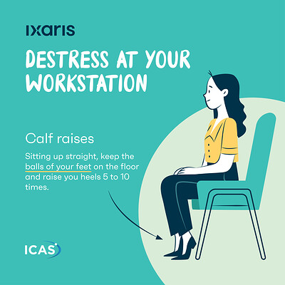Destress at your workstation - Social Media Posts
