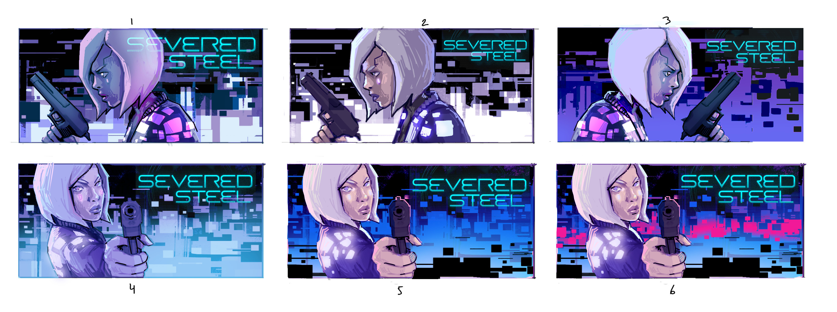 A selection of the thumbnails with rough color scheme