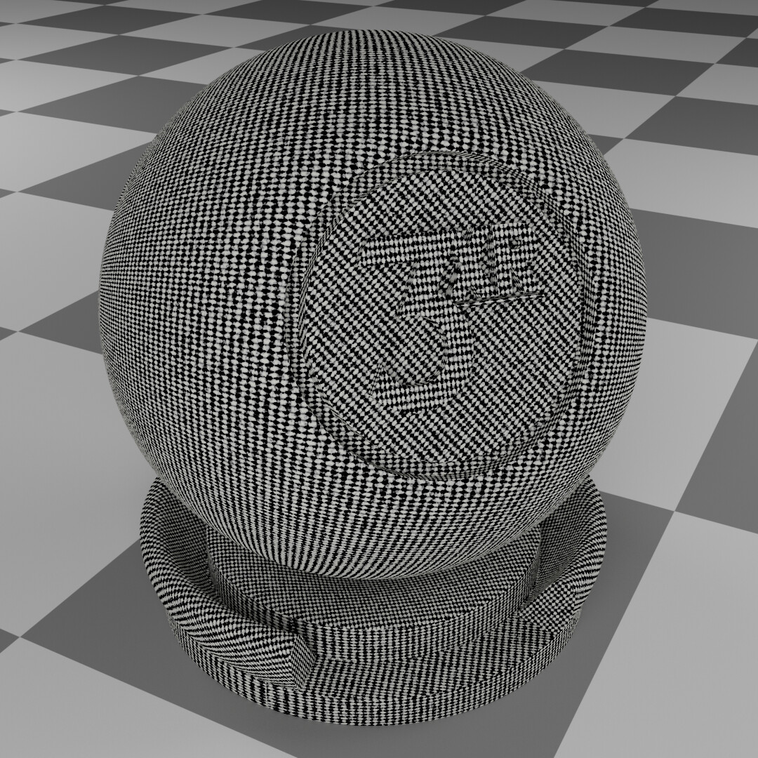 Lined cloth procedural material made & rendered in Blender.