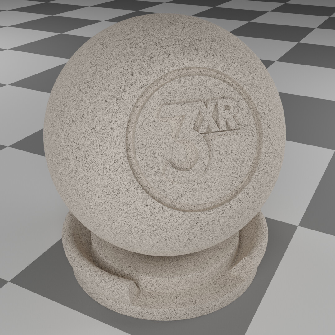 Stucco procedural material made & rendered in Blender.