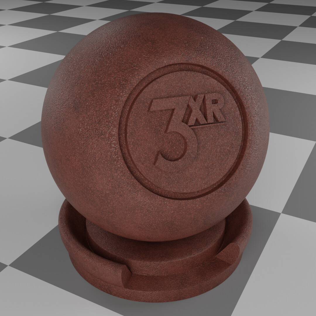 Leather procedural material made & rendered in Blender.