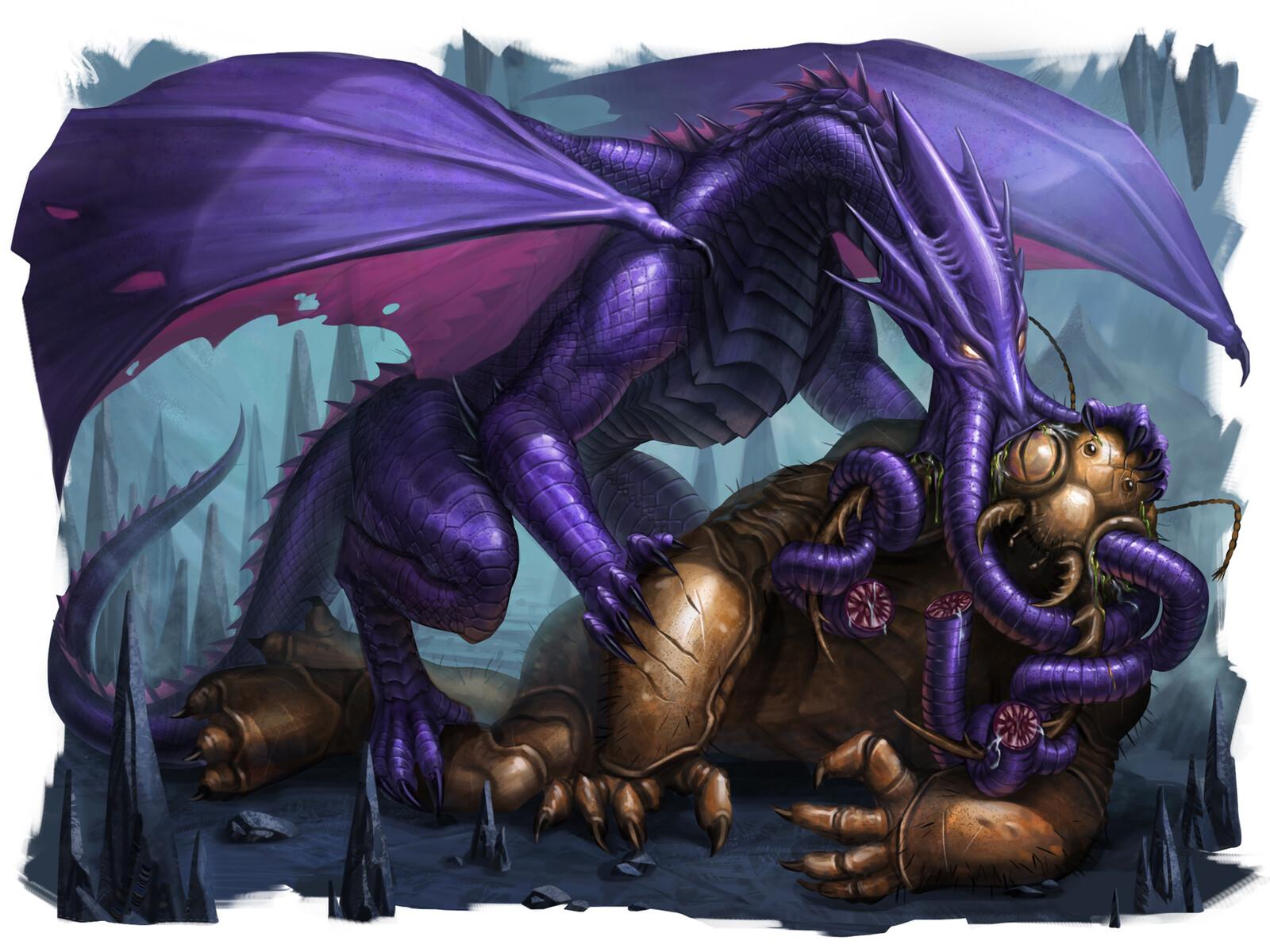 Lithidragon / Brainstealer Dragon (Young)