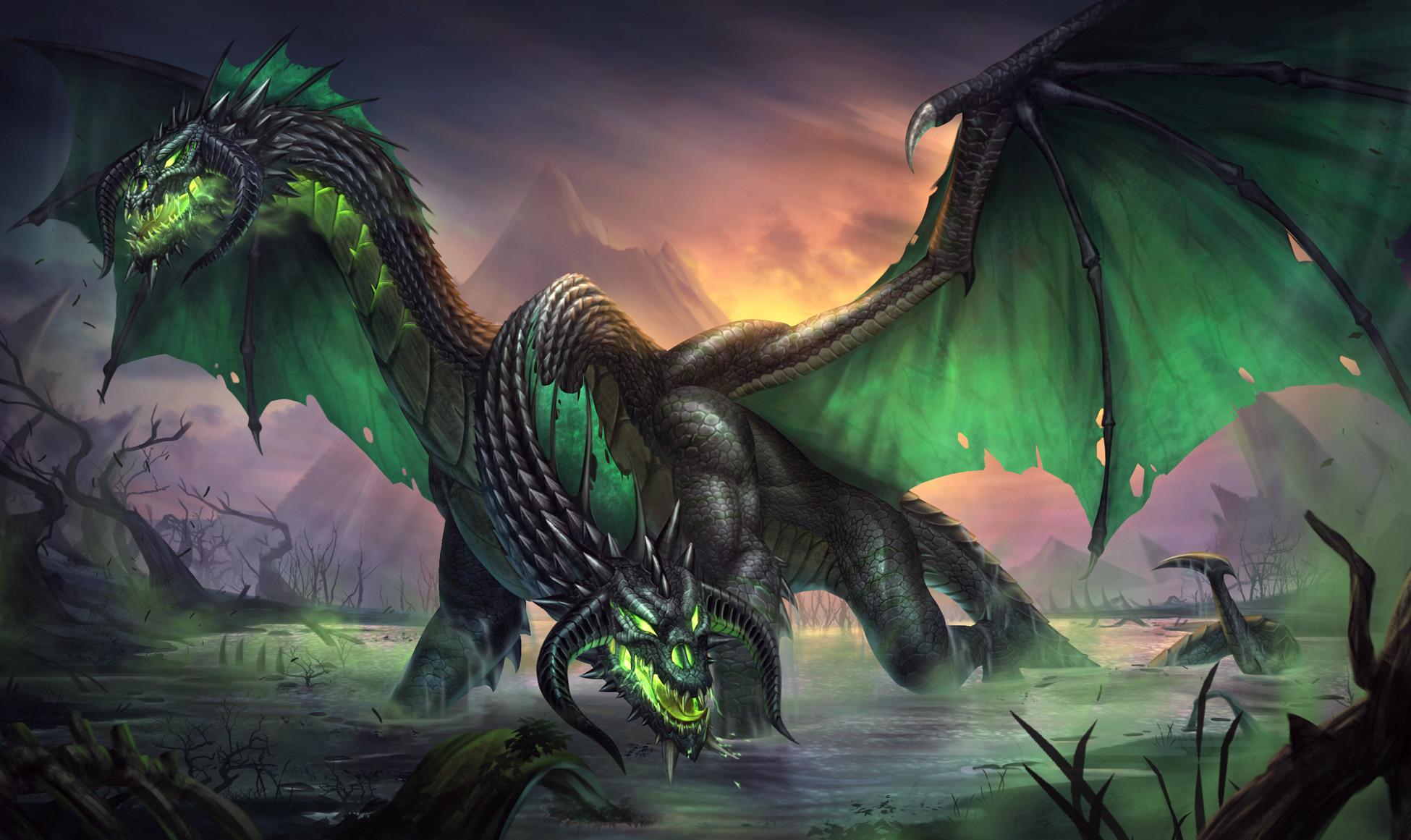 Two Headed Black Dragon