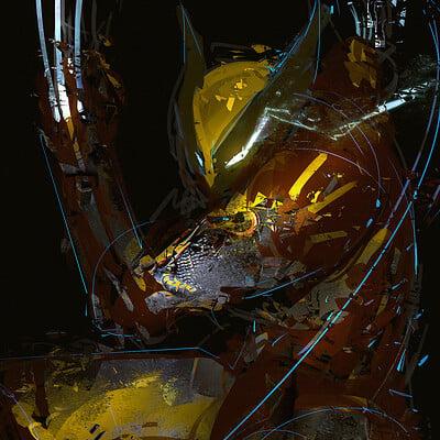 Benedick bana wolverine cyber fanart texture ver color lores