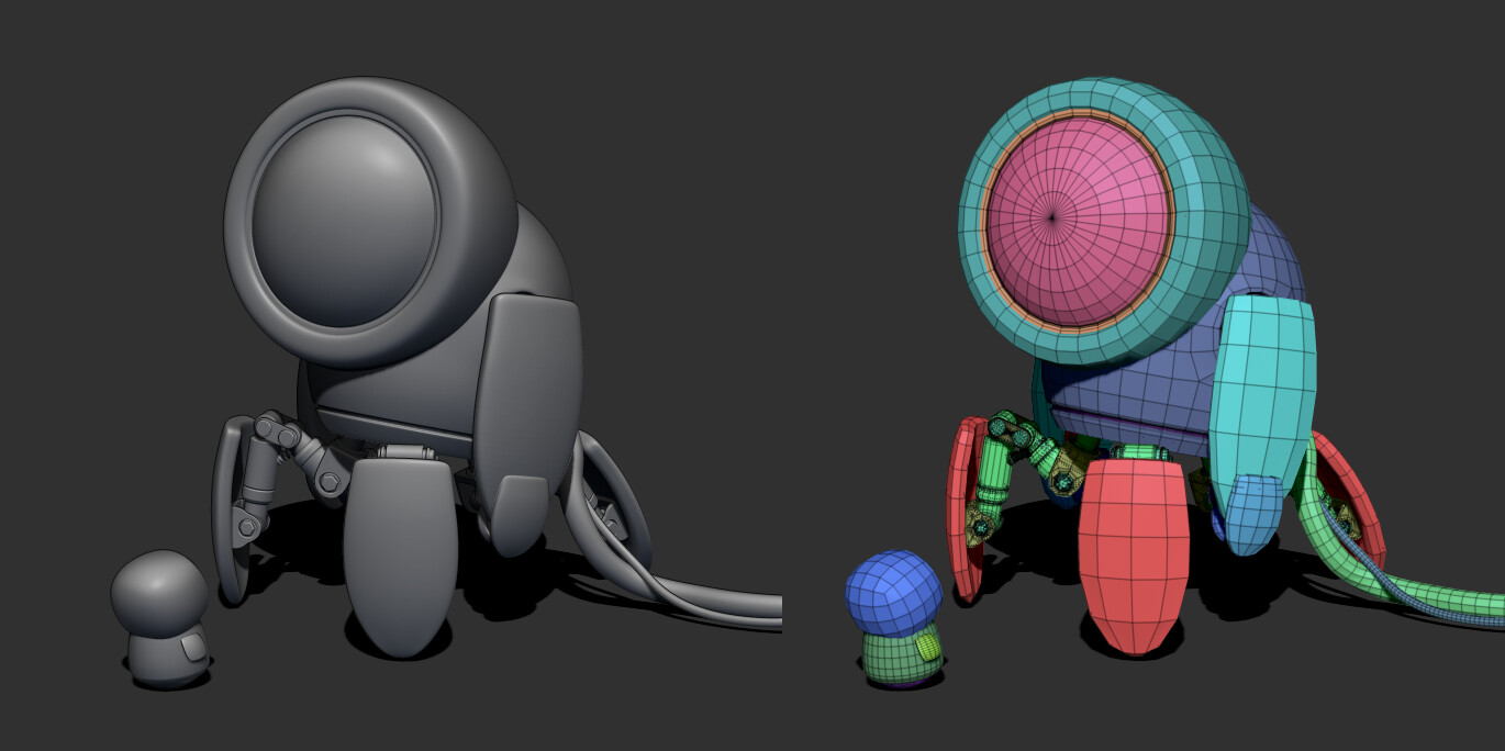 simple models from ZBrush