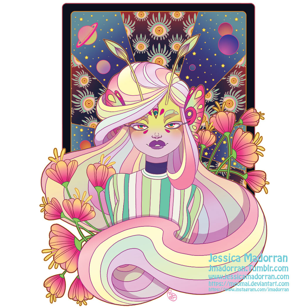 Patreon - July 2021 Sticker Option 02 - Twisted Rapunzel