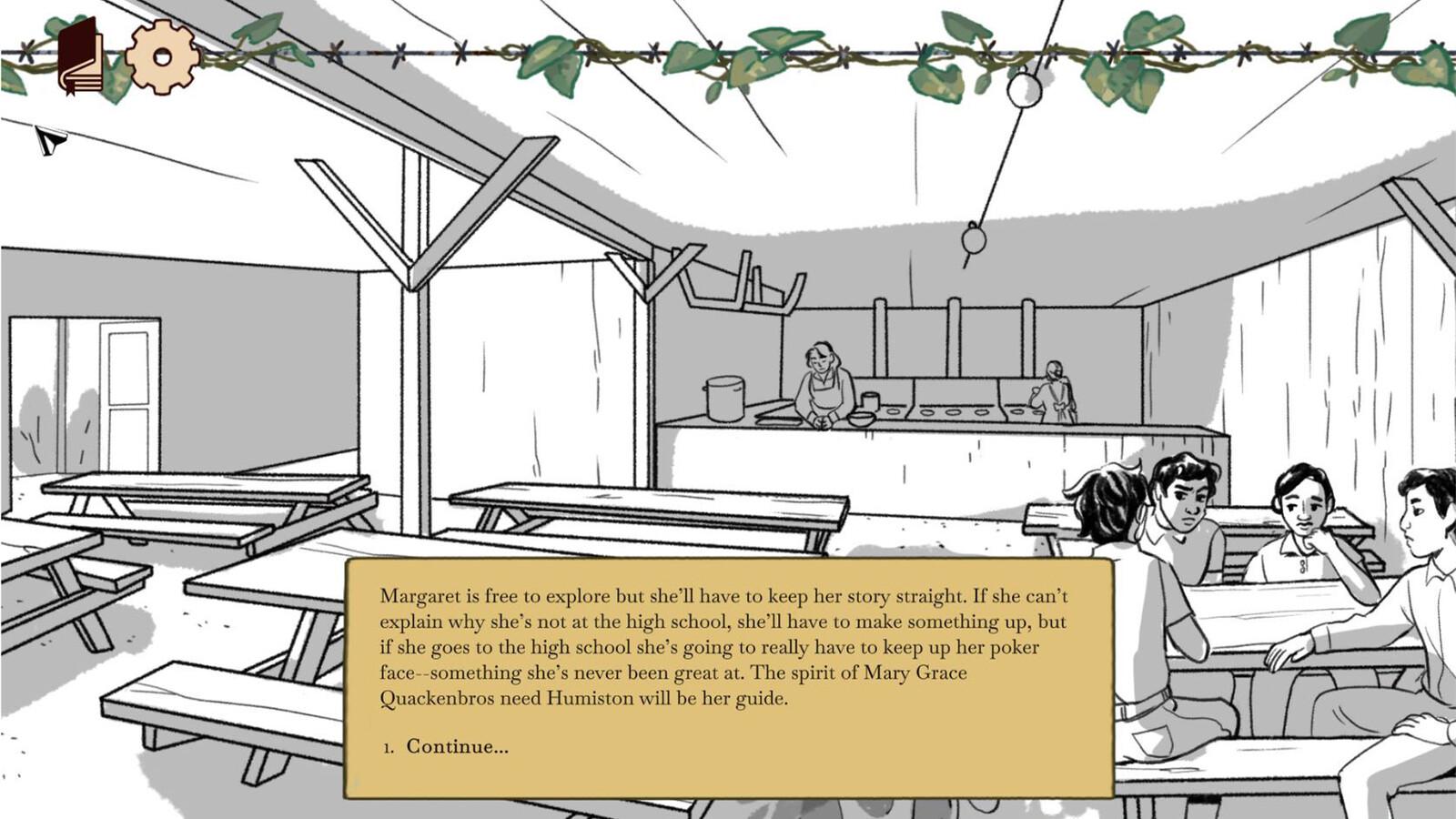 Scene 9 - Margaret investigates conditions at the Rhower internment camp.