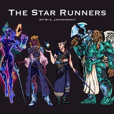Fraser robertson lostastronaut star runners