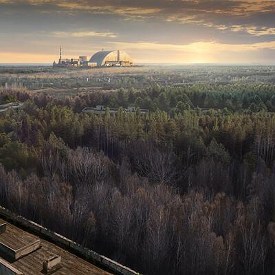 Jithin roda chernobyl nuclear plant view 3 v07