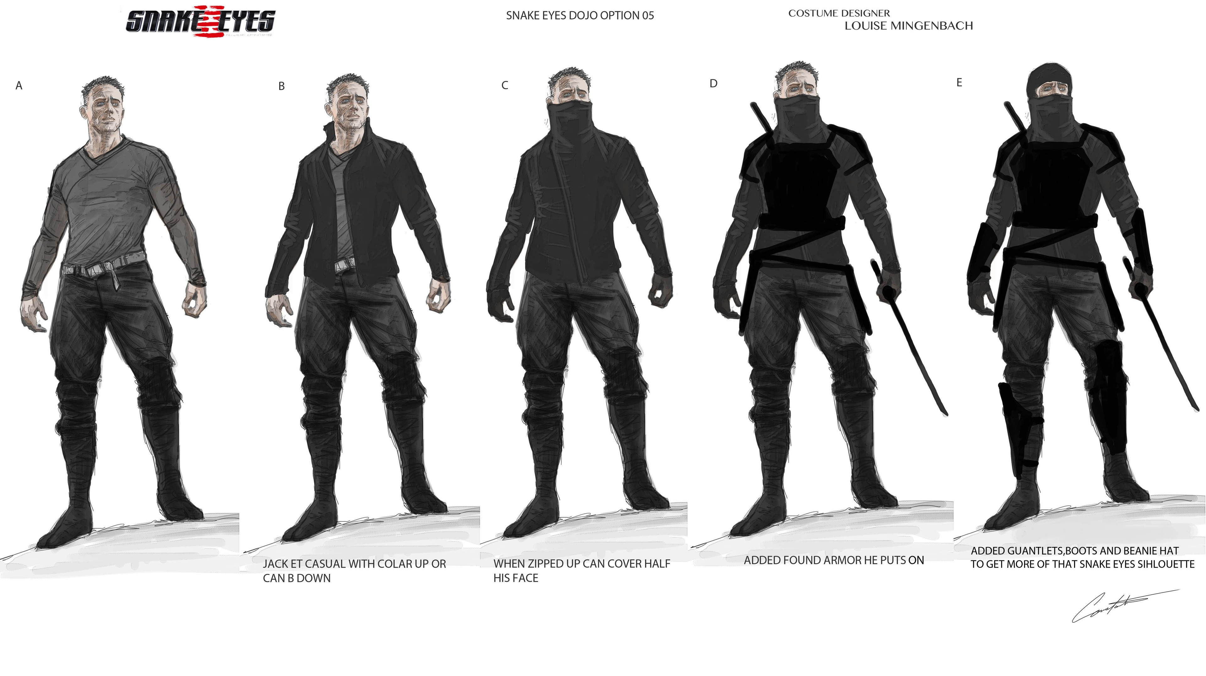 Snake Eyes Costume Concepts