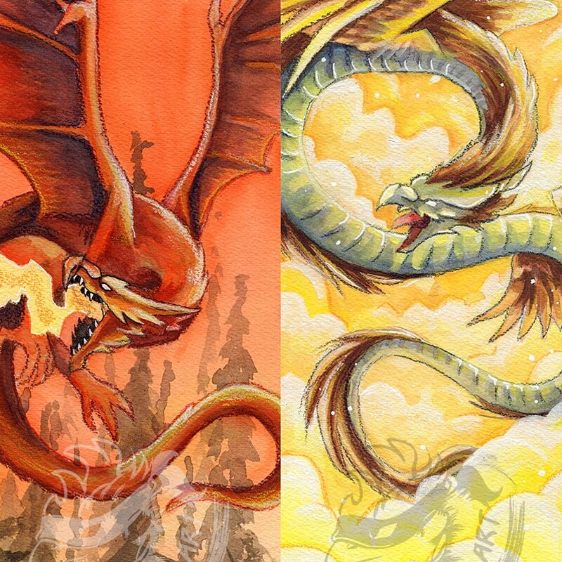 Dragon Designs for Bookmarks