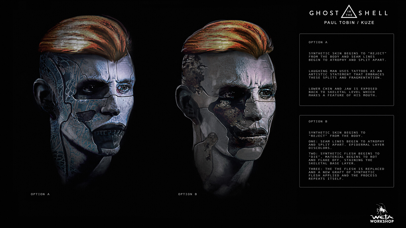 Ghost in the Shell: Kuze Head Concepts