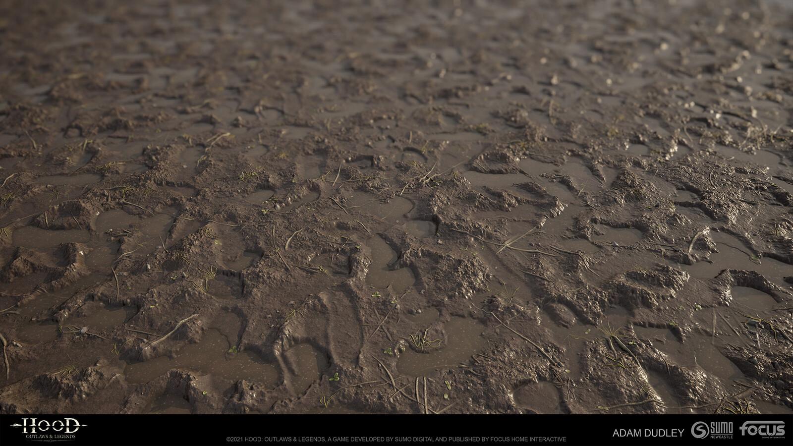 Trodden Mud 02 - Fully procedural Substance Designer