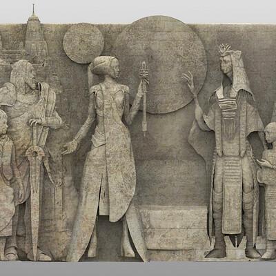 Aaron mcbride vader immortal mustafar relief frieze