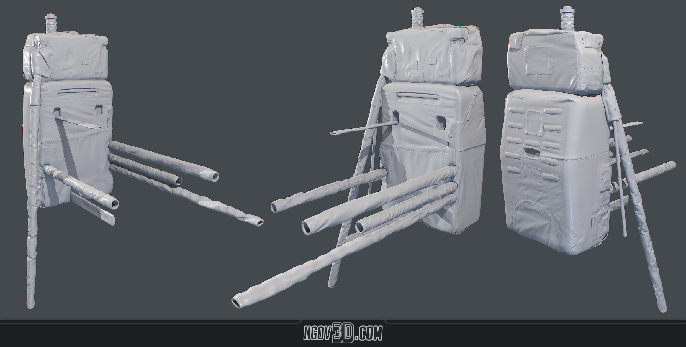 Backpack Highpoly Sculpt