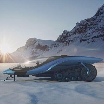 Encho enchev snowmobile concept 1