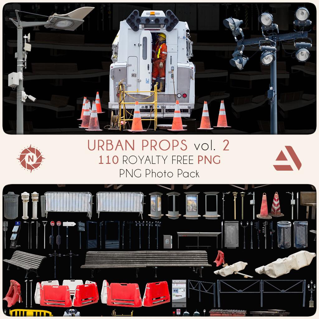 PNG Photo Pack: Urban Props volume 2  https://www.artstation.com/a/7931435