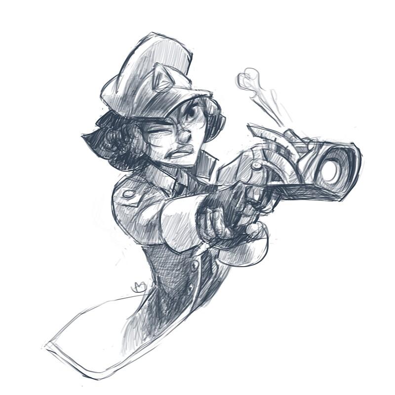 Meyra Vadelin quick sketch