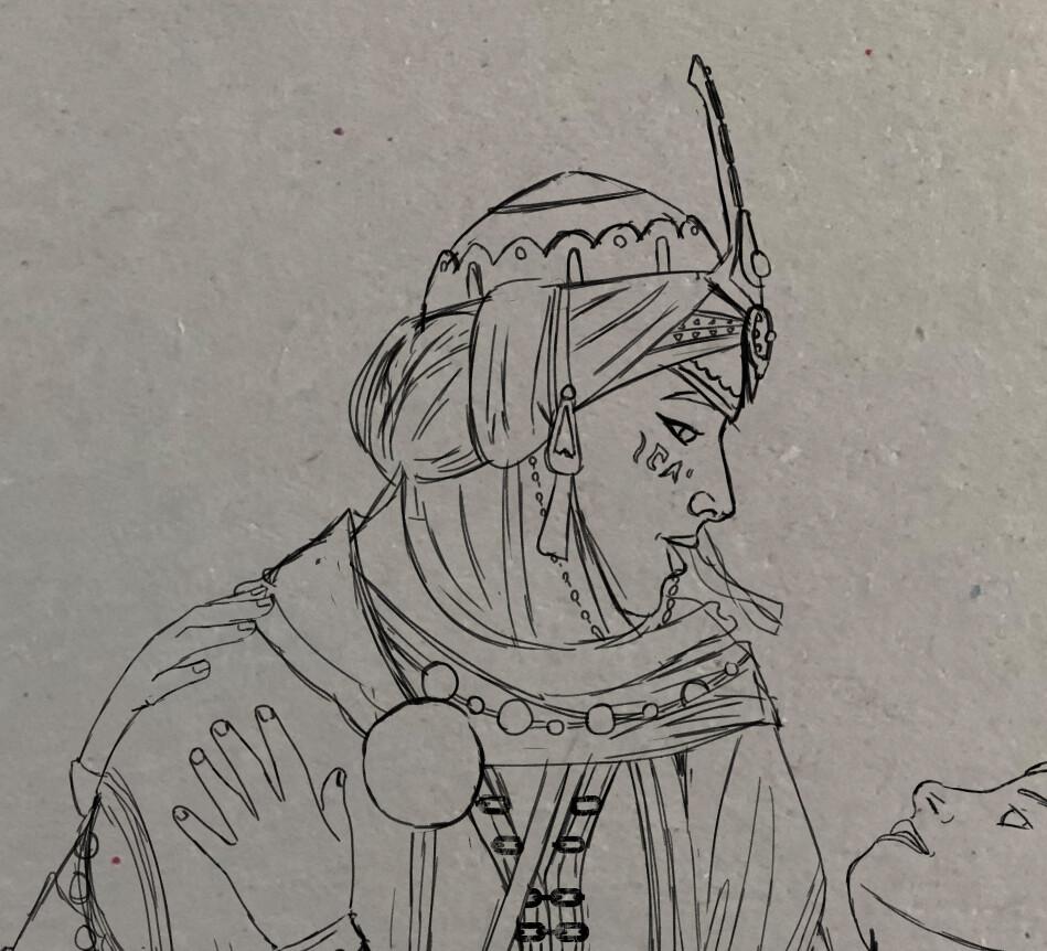 Cleaned Sketch - Kyra Detail