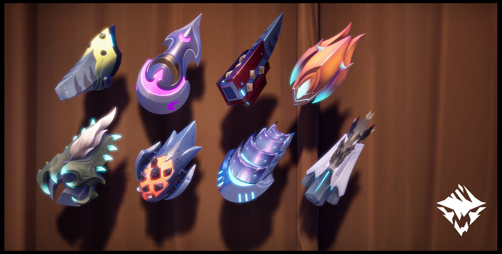 For those who wish to follow the Way of the Fist, left to right, top to bottom: Storm Breakers, Witch's Familiar, Ember Fists, Kharabak's Pincers, Sovereign's Sceptres, Charred Hands,  Pangar's Punishers, Winter Wolves.