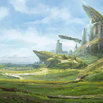 Mark grizenko scifantasy landscape what futre may hold artstation feed