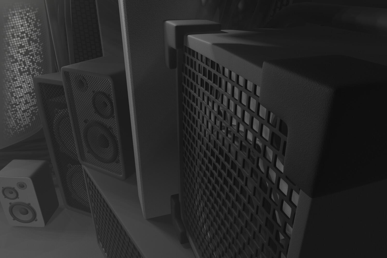 So many speakers.