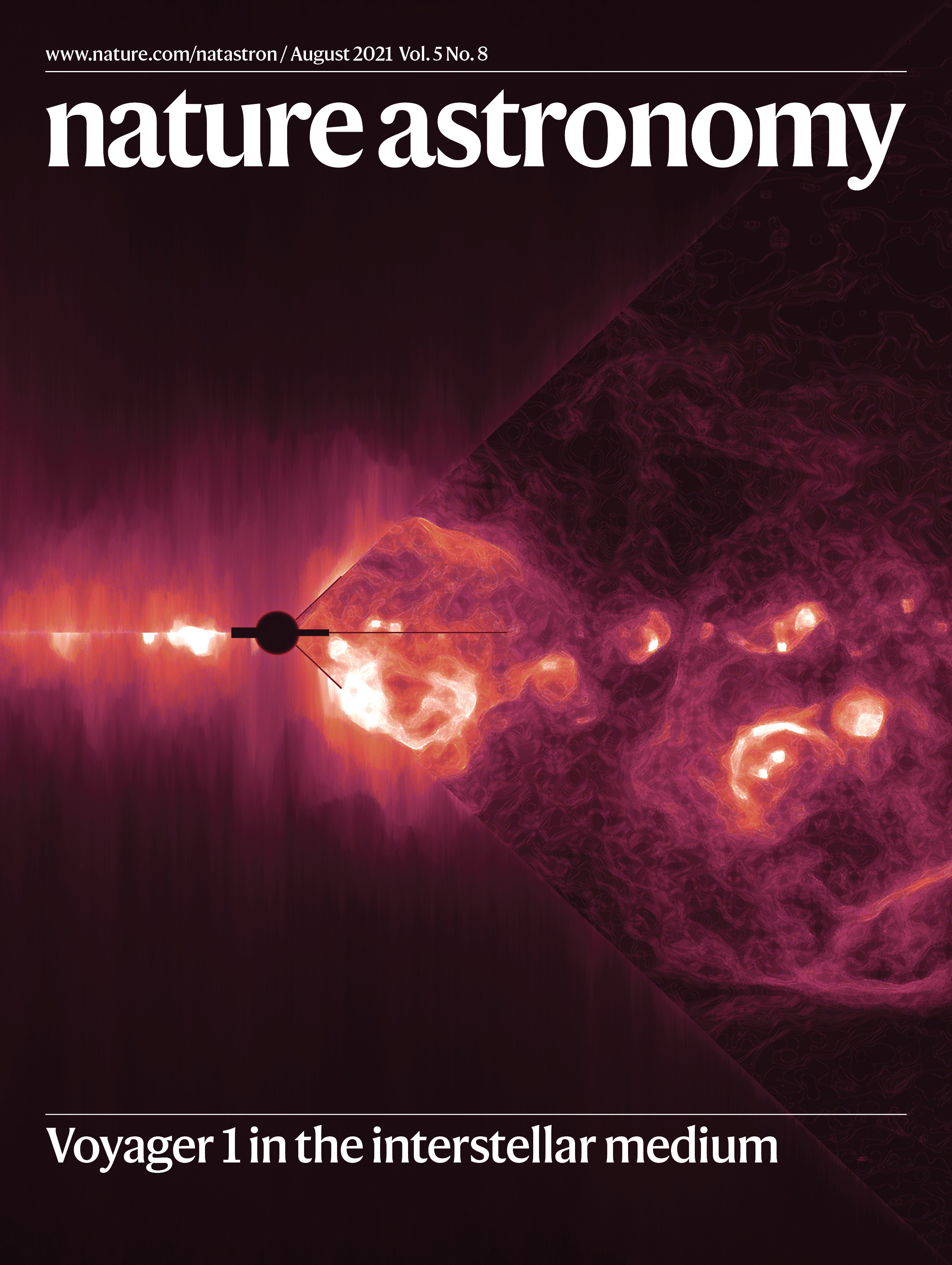 Cover of the August 2021 issue of Nature Astronomy