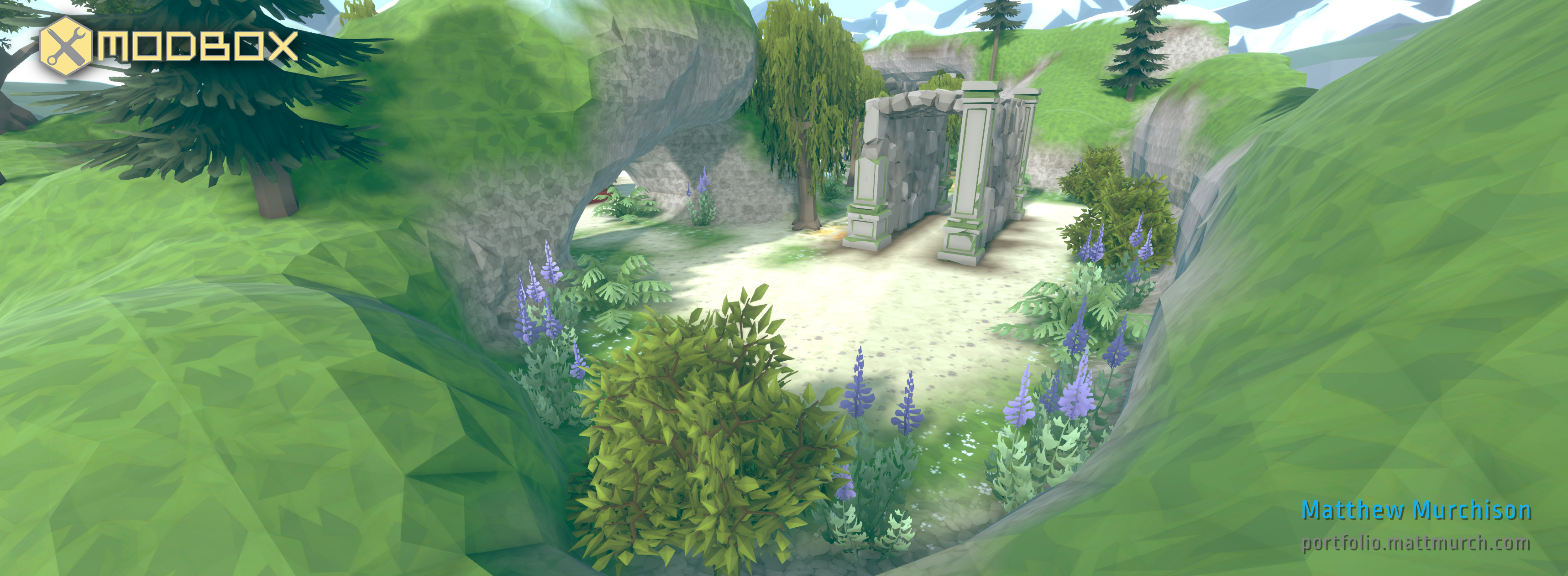 The mix of foliage and ancient ruins creates a beautiful combat environment.