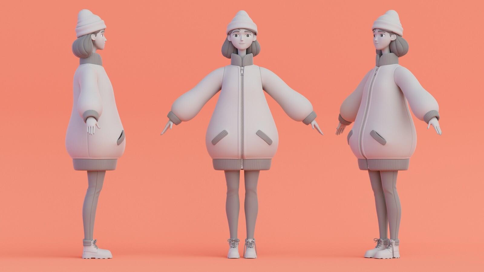 Nina: 'nervous' outfit