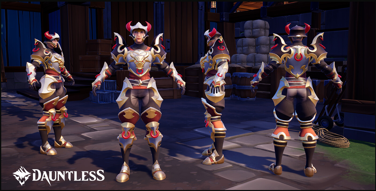 Armor of the First Slayer. LVL 50 Hunt Pass reward for the season of Myth and Legend (Female version shown).